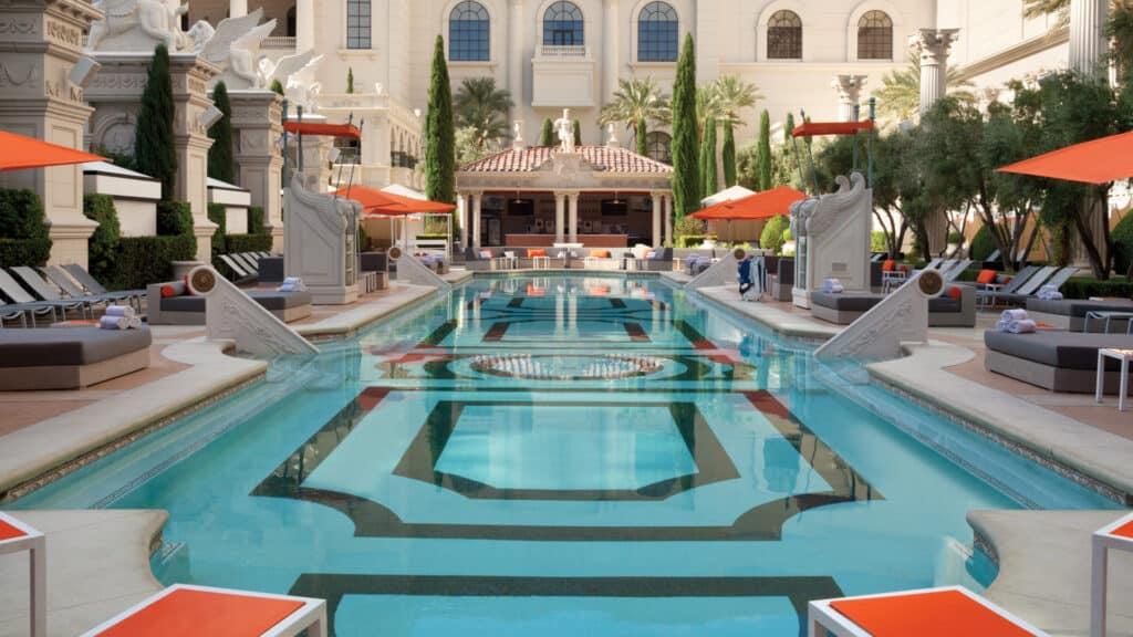 Venus pool at Caesars Palace Las Vegas Garden of the Gods Pool Oasis