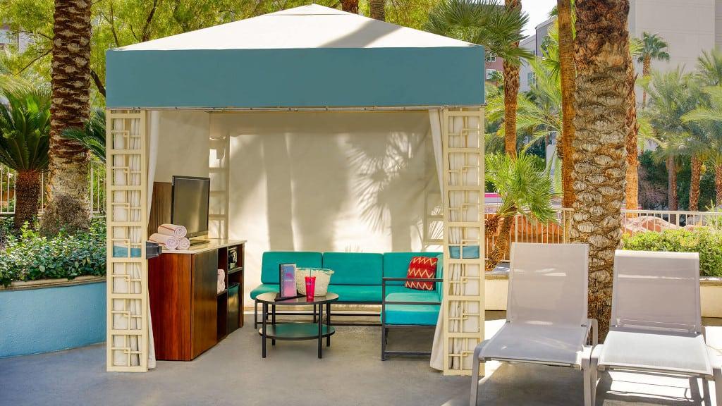 Flamingo pool cabana