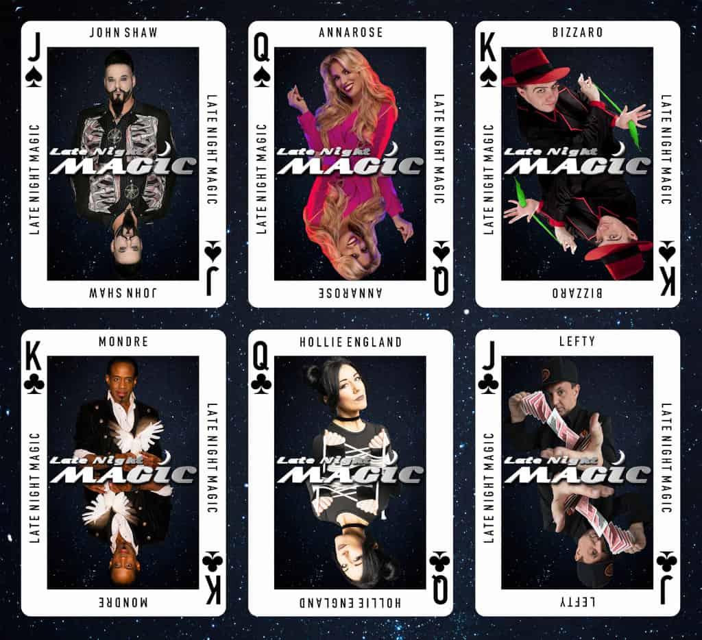 Late Night Magic Cast Cards