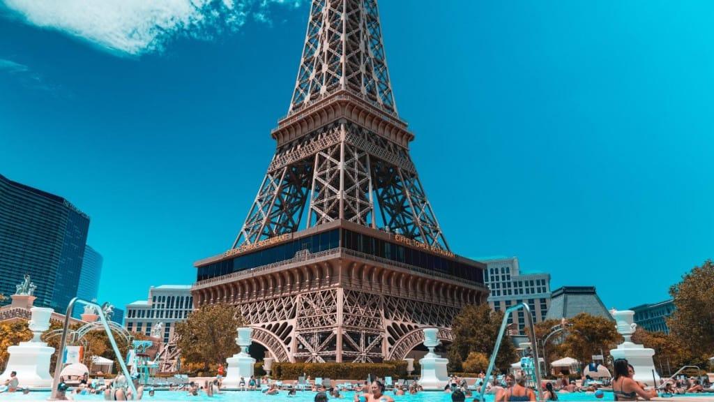 Paris Las Vegas Pool Eiffel Tower View