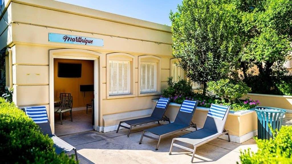 Paris Las Vegas Pool - Poolside French Premium Cabanas
